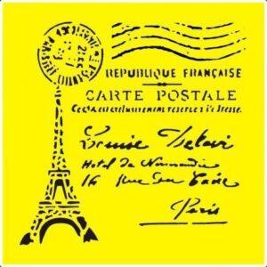 sablon-stencil-Eiffel Tower-25267-16x16cm-gtatarakis.com