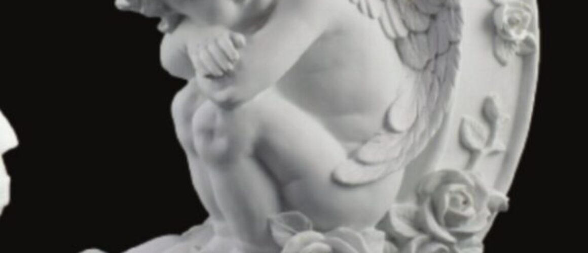 Statueta poliester-înger-HYK 433-37x22cm